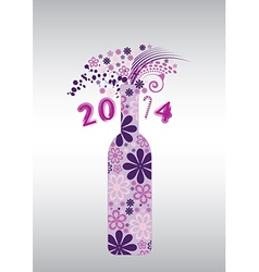 2014 Champagne vector image