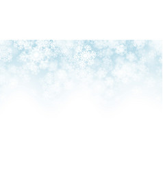 3d falling snow effect vector image