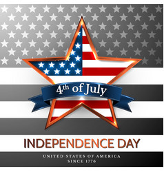 4 th july usa star independence day vector