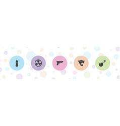 5 dangerous icons vector