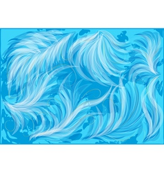 Abstract blue feathers vector
