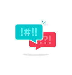 Argue chat bubbles icon argument messages vector