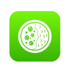 Asian soup icon digital green vector