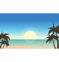 Beach landscape of art vector image vector image