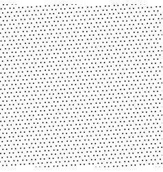 black dotted pattern on white background and vector image