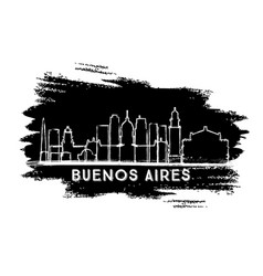 buenos aires argentina city skyline silhouette vector image