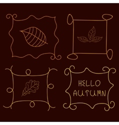 Calligraphic borders and frames vector
