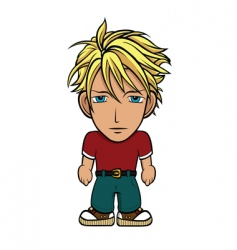 chibi guy blond vector image