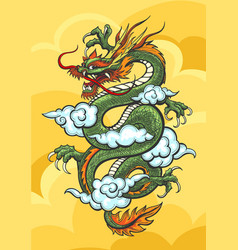 Chinese dragon colorful vector