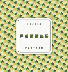 Color green and orange puzzle pattern vector