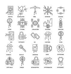cryptocurrency icons vector image