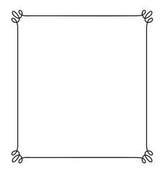 Curvy inline frame vector