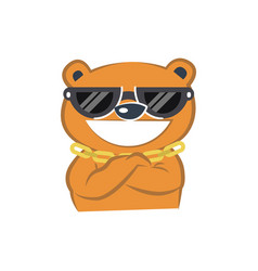 Cute bear smiling vector