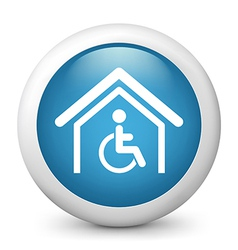 Disability glossy icon vector image