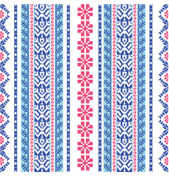 embroidered pattern vector image