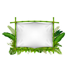 empty frame made of bamboo vector image