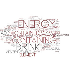 Energy-containing word cloud concept vector