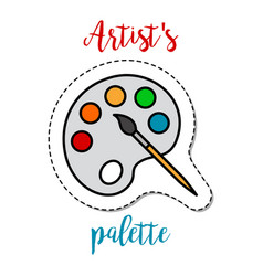 fashion patch element artists palette vector image