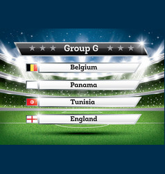 football championship group g soccer world vector image