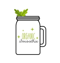 Green Detox icon Smoothie and Juice design vector