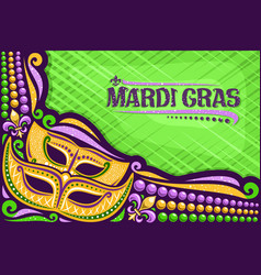 Greeting card for mardi gras vector