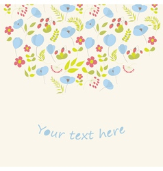 Greeting card with flowers vector image