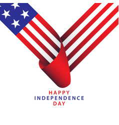 Happy usa independence day template design vector