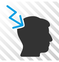 Head Electric Strike Icon vector