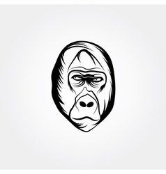 Head gorilla design template vector image