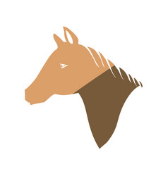 horse head silhouette vector image vector image