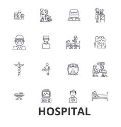 hospital doctor medical healthcare nurse vector image