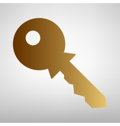 Key sign Flat style icon vector image