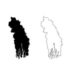 Khulna division map vector