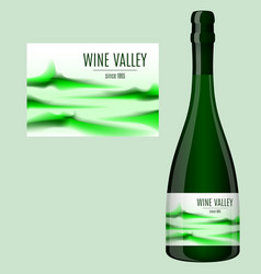label design for a bottle wine vector image