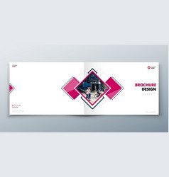landscape brochure design corporate business vector image