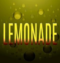 Lemonade yellow text bubbles logo vector