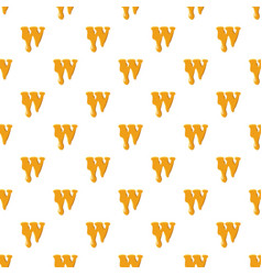 Letter w from honey pattern vector