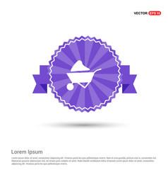 Loader icon - purple ribbon banner vector