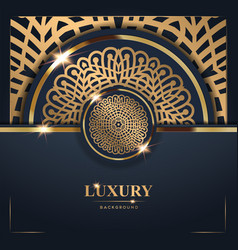 Luxury golden mandala background free vector