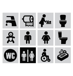 man woman restroom vector image