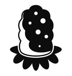 Marijuana seed icon simple style vector