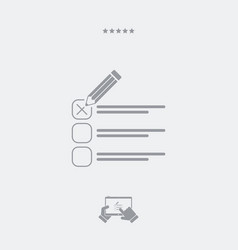 Mark option - minimal icon vector