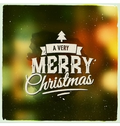Merry Christmas creative graphic message for vector image