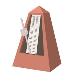 metronome icon cartoon style vector image