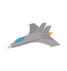 military aircraft icon cartoon style vector image