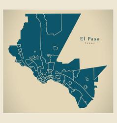 Modern city map - el paso texas city of the usa vector