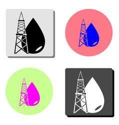 oil rig icon flat icon vector image