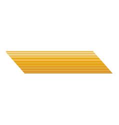 Penne rigate pasta icon realistic style vector