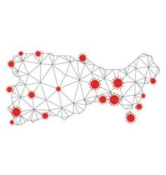 Polygonal network mesh capri island map vector