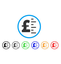 Pound value rounded icon vector